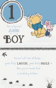 Winnie the Pooh Special Little Boy 1st Birthday Card